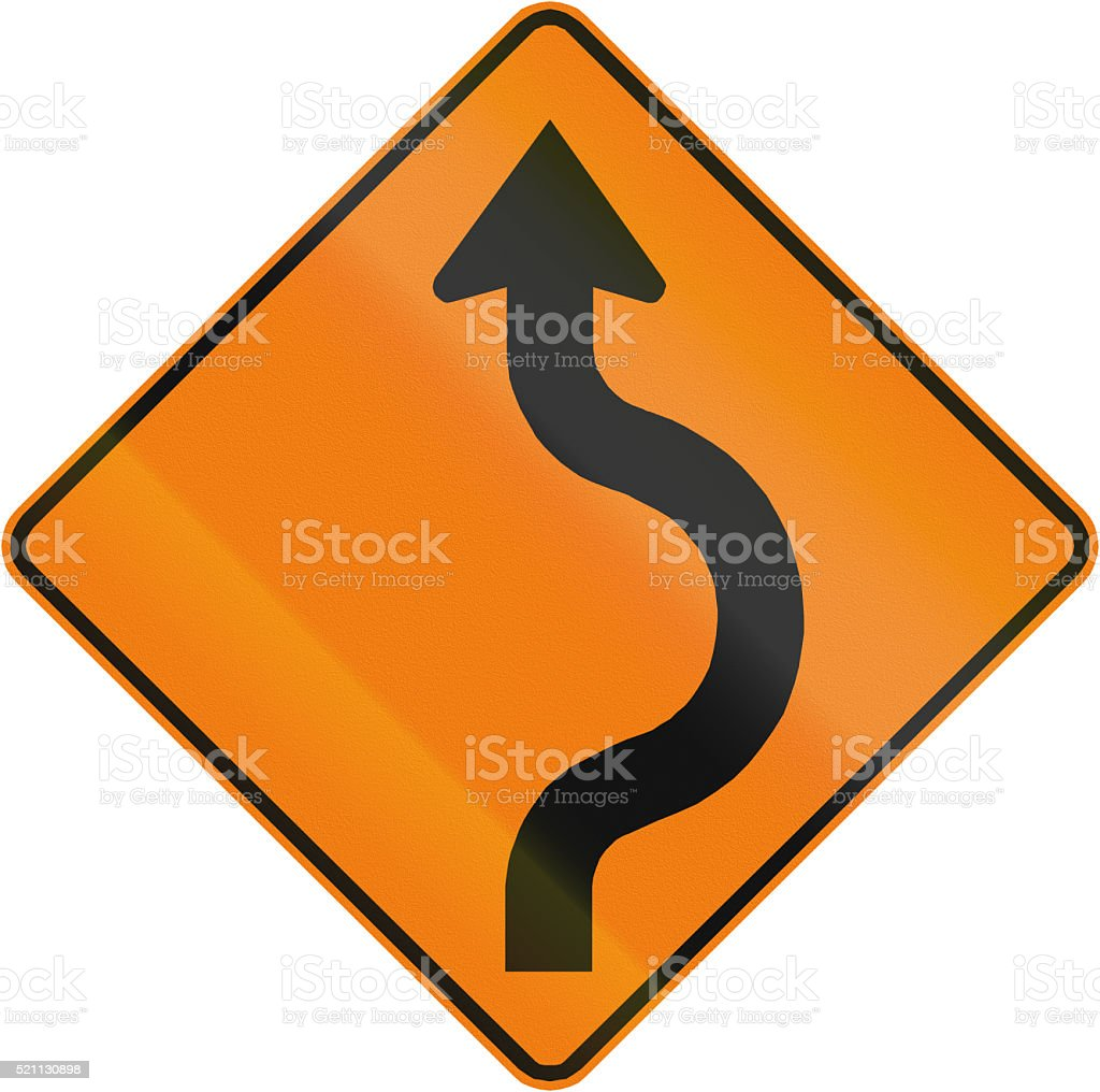 Two-Reverse Curve To The Right in Canada stock photo