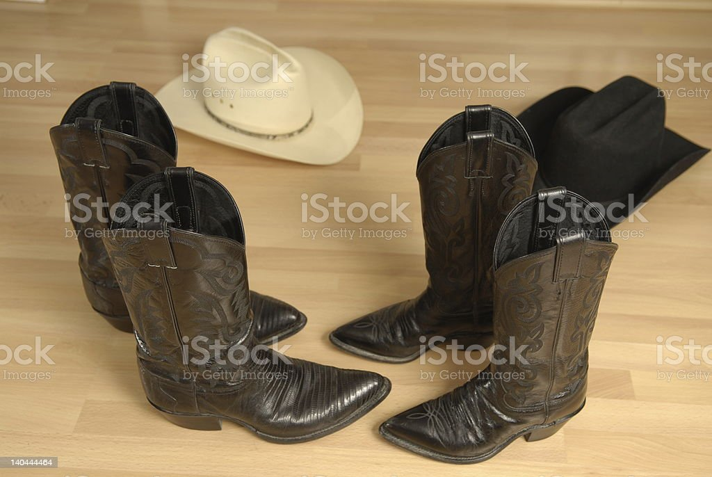 Two-Step Country Western Dancing royalty-free stock photo