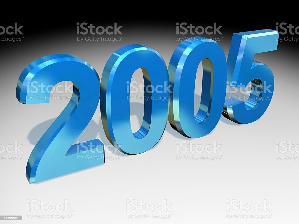 two-thousand five Year Banner royalty-free stock photo