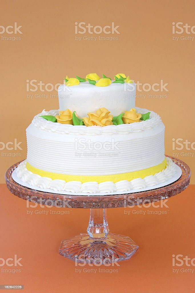 Two-Tiered Layer Cake royalty-free stock photo