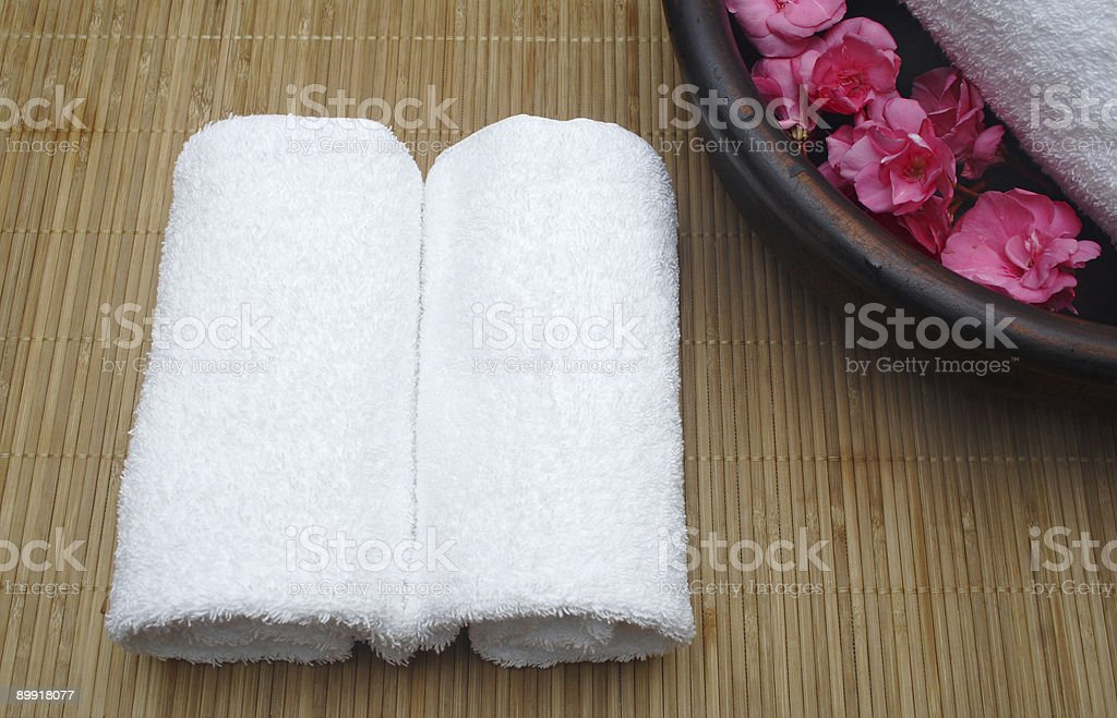 two-towel pampering royalty-free stock photo