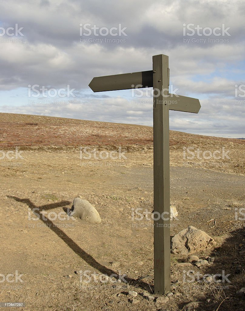 Two-Way Guidepost royalty-free stock photo