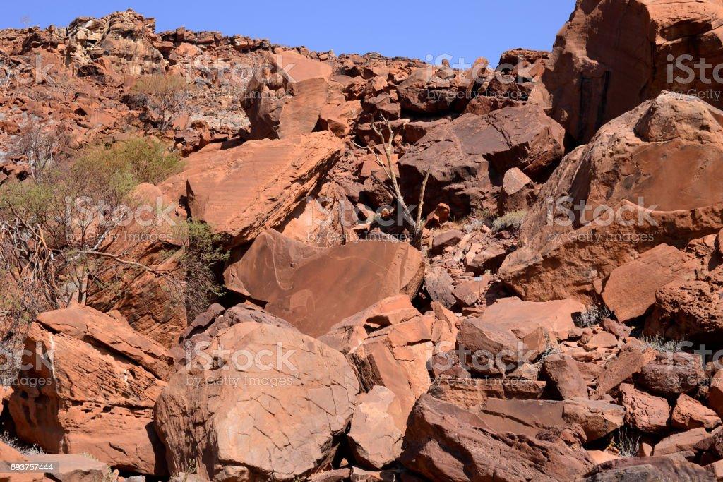 Twyfelfontein (petroglyphs) stock photo