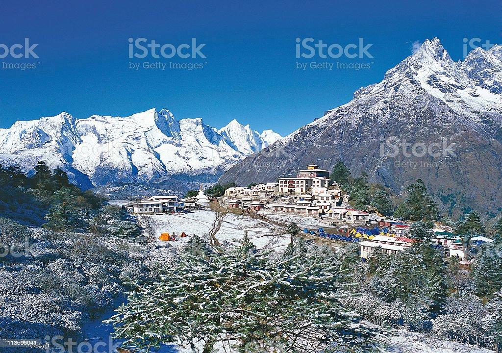 Tyangboche Monastery stock photo