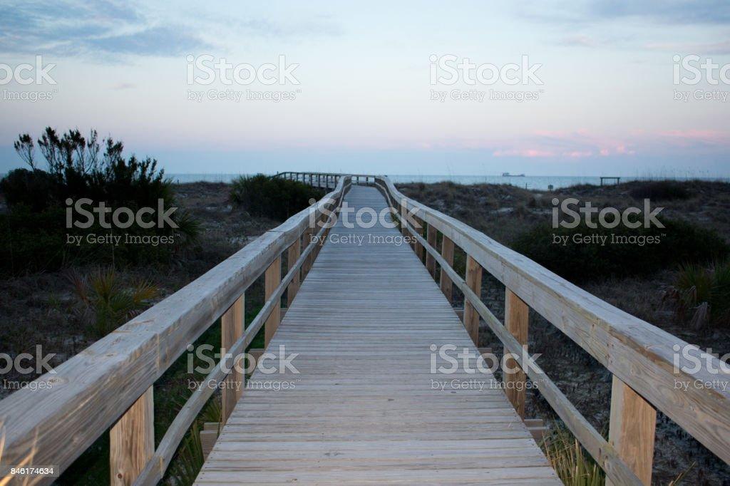 Tybee Island Boardwalk stock photo