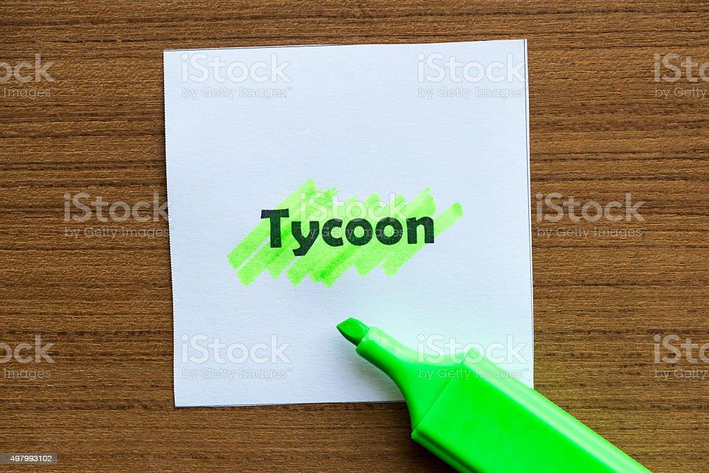 tycoon stock photo