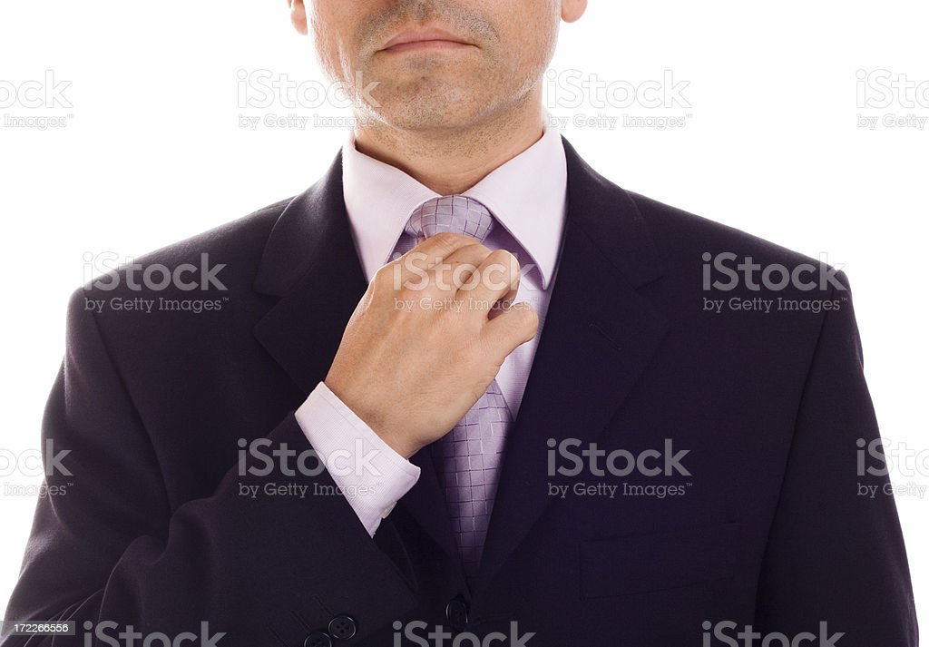 Tying a Tie royalty-free stock photo