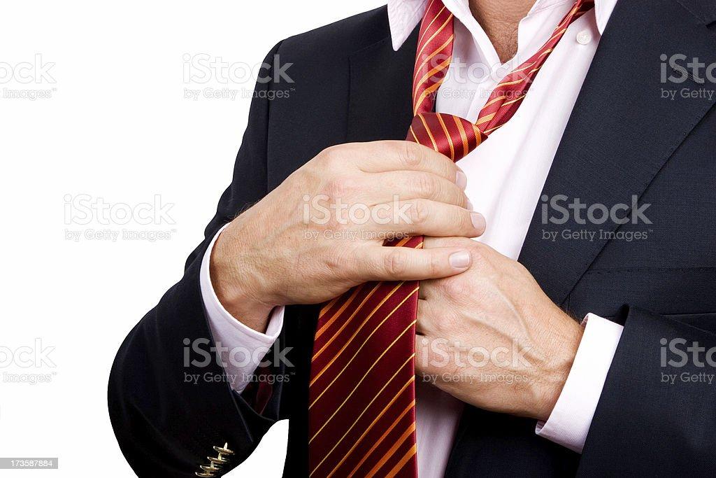 tying tie royalty-free stock photo