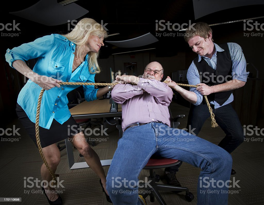 tying up the mean boss stock photo istock tying up the mean boss royalty stock photo