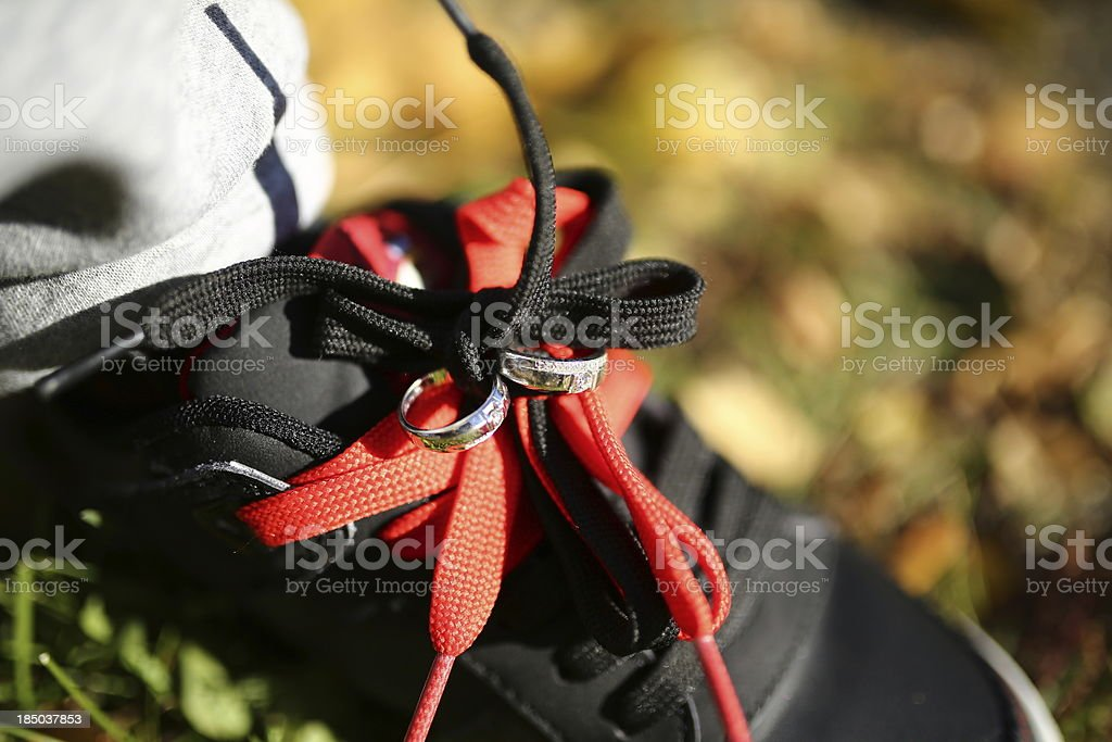 Tying-the-knot in the fall royalty-free stock photo