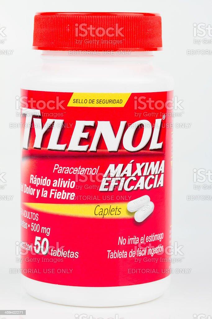 Tylenol pain releiver stock photo