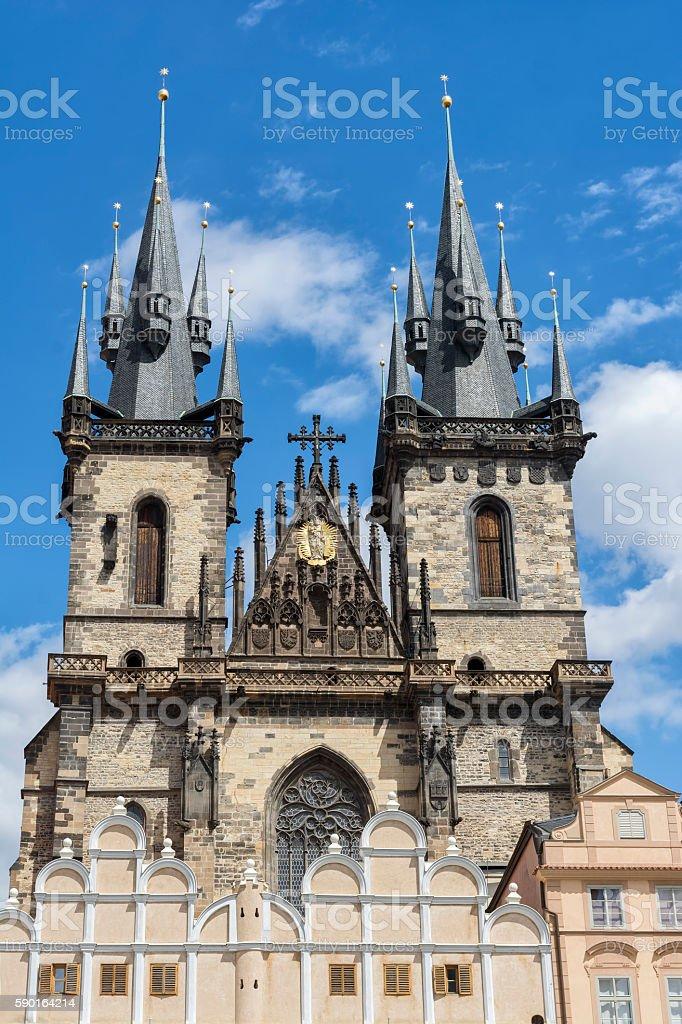 Tyn Church, Prague, Czech Republic stock photo