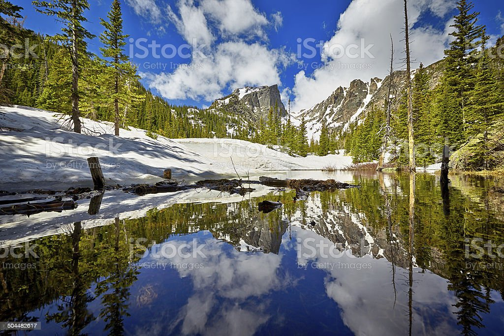 Tyndall Creek at the Rocky Mountain National Park stock photo