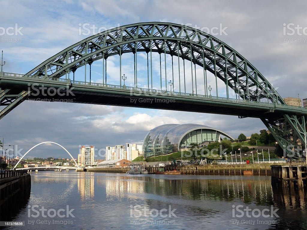 Tyne Bridge, Newcastle on an overcast day stock photo