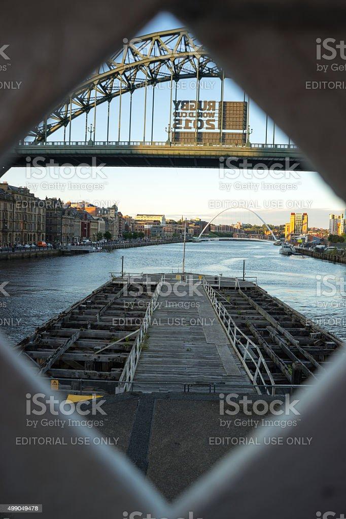 Tyne Bridge - Rugby World Cup 2015 stock photo
