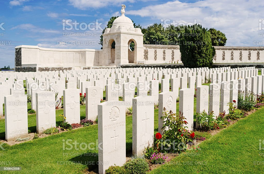 Tyne Cot cemetery, Belgium stock photo