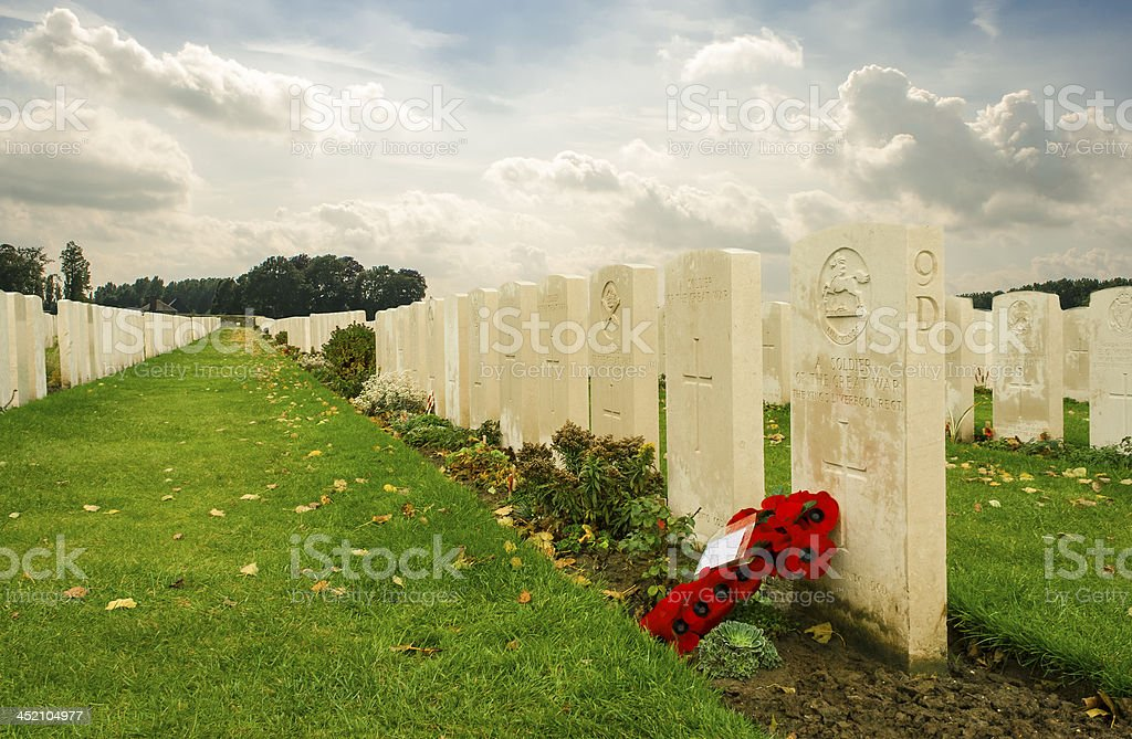Tyne cot cemetery first world war flanders Belgium stock photo