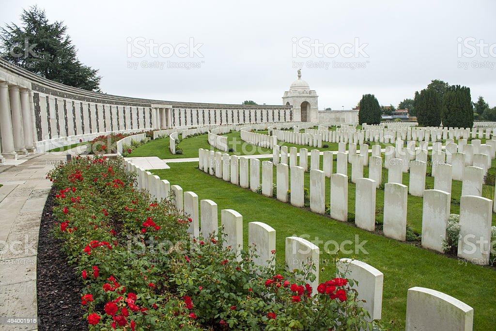 Tyne Cot Cemetery Zonnebeke Ypres Salient Battlefields Belgium stock photo