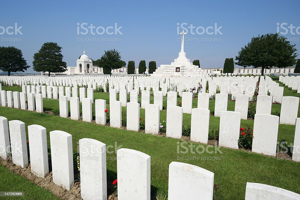 Tyne Cot Cemetry, royalty-free stock photo
