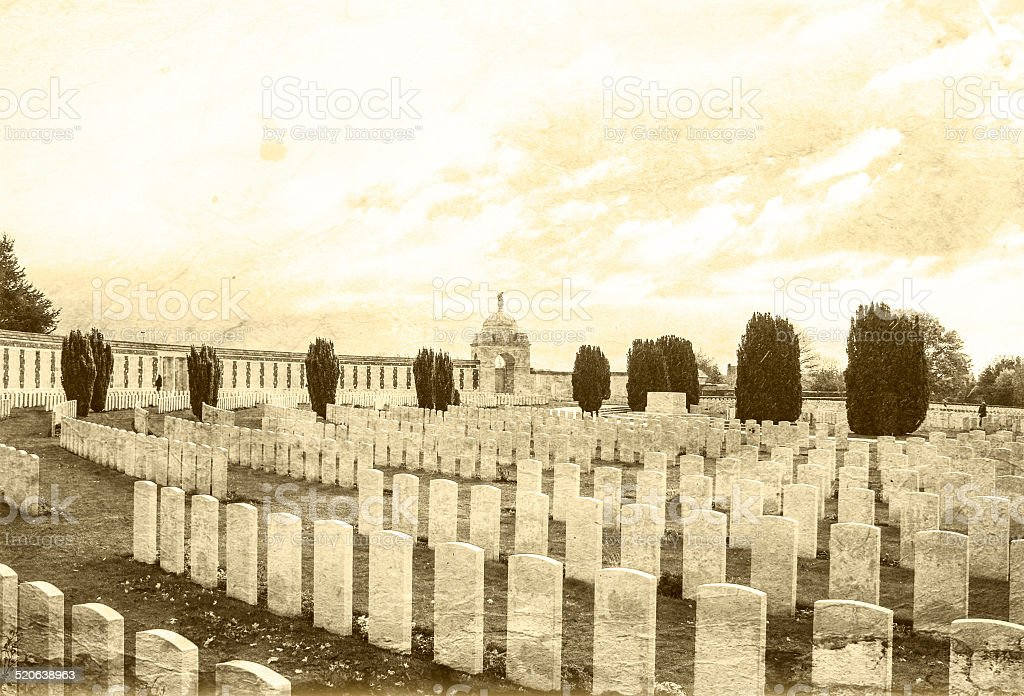 Tyne Cot Great world war 1  flanders fields belgium stock photo