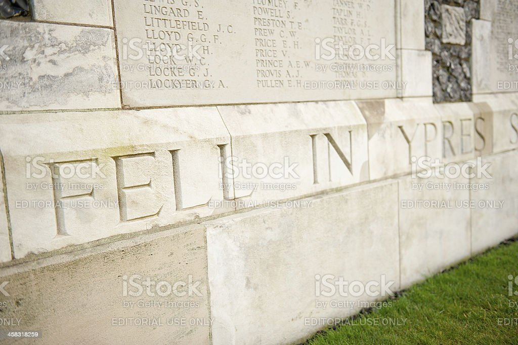 Tyne Cot Memorial, Passchendaele, Belgium stock photo