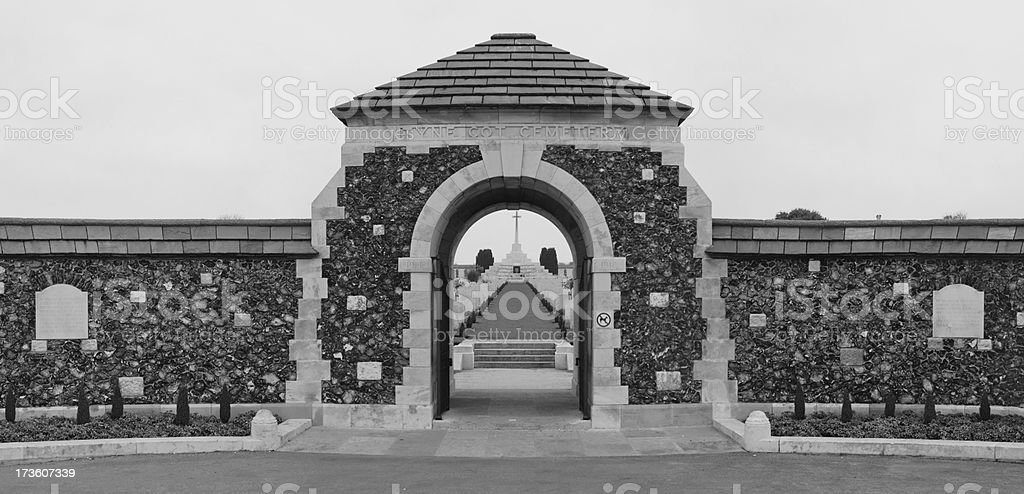 Tyne Cot War Cemetary stock photo