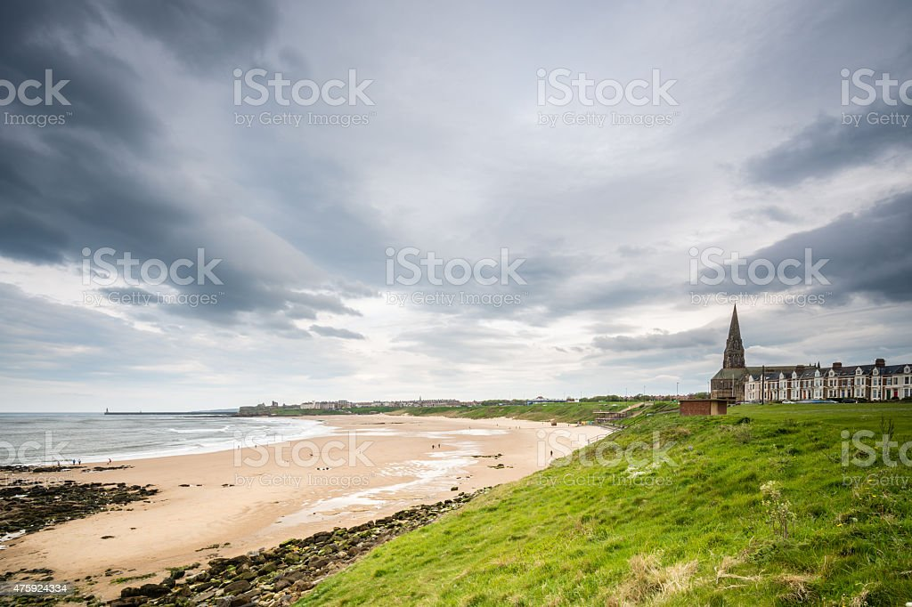 Tynemouth Long Sands stock photo