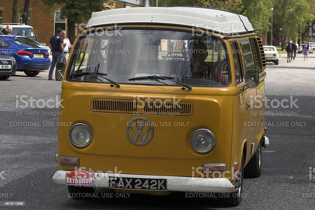 VW Type 2 Bus classic car stock photo