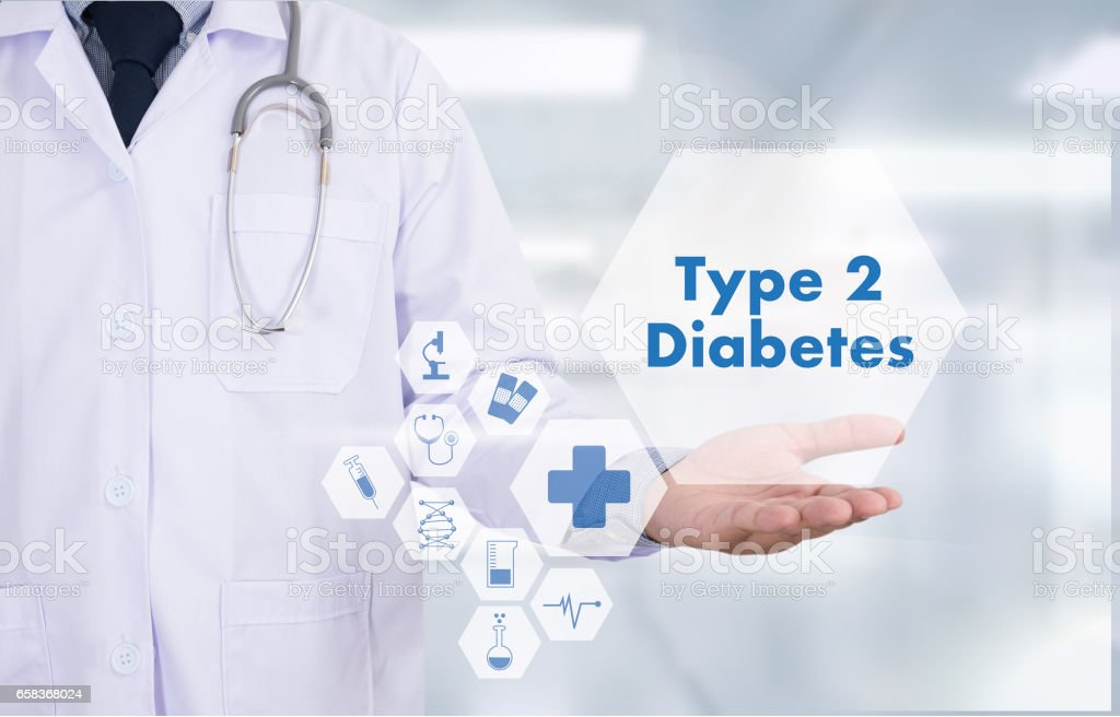 type 2 diabetes doctor a test disease health medical concept stock photo