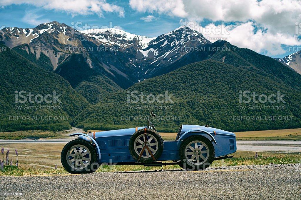 Type 35 Bugatti Replica In New Zealand stock photo