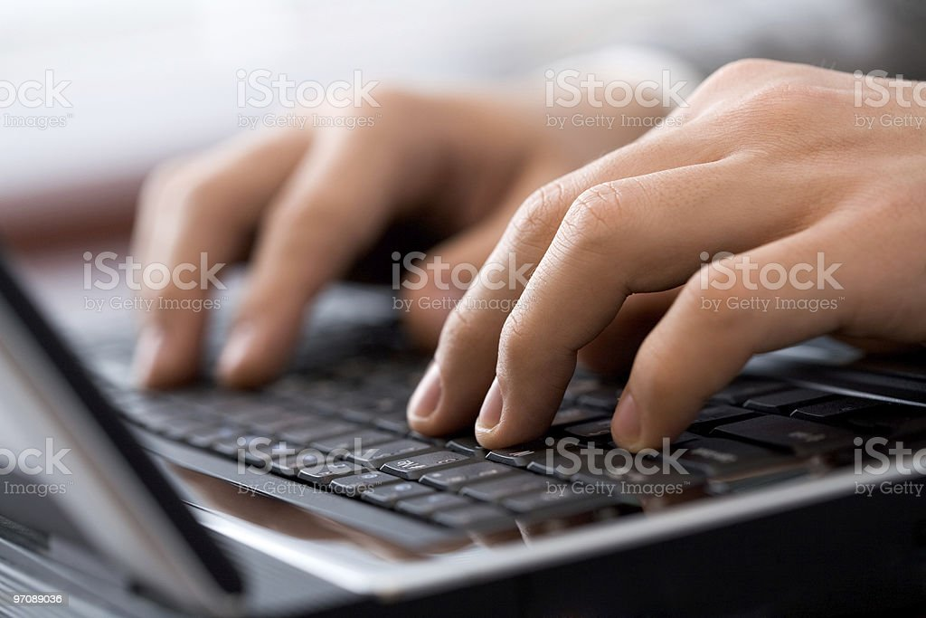 Type a document stock photo