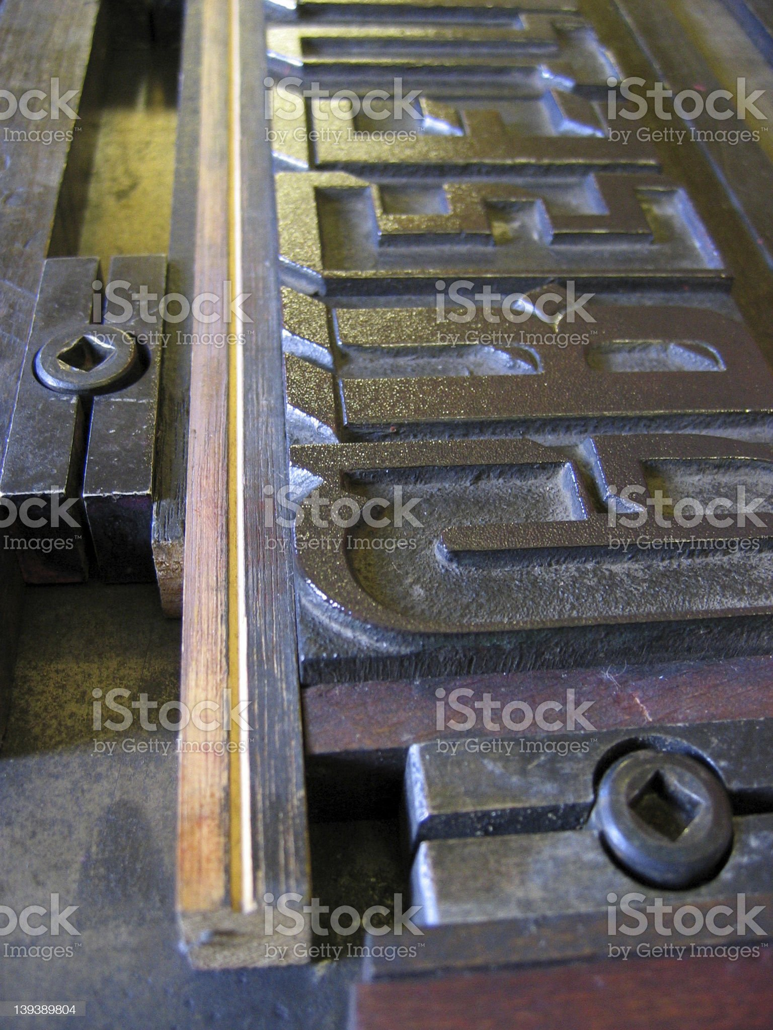 Type, chase and quoins royalty-free stock photo
