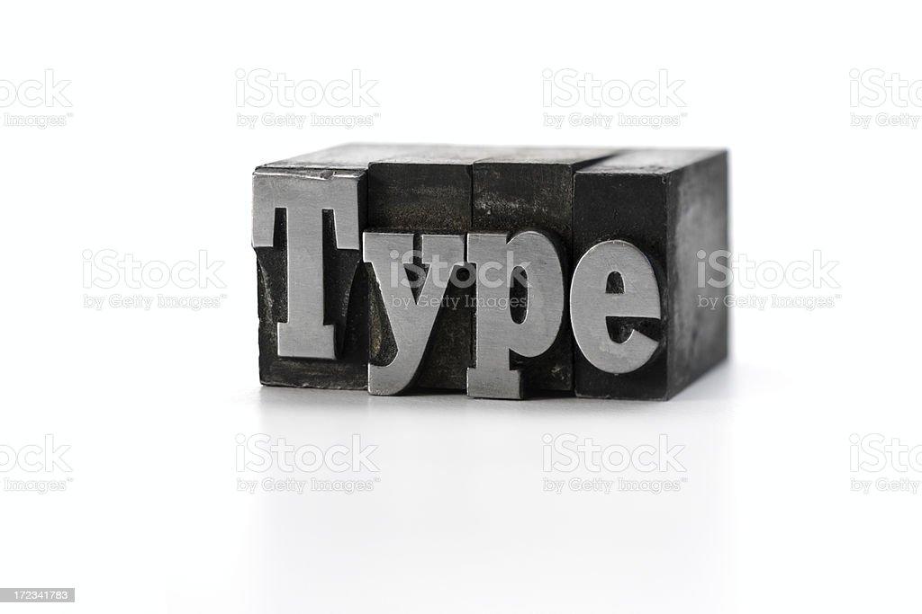 Type letterpress royalty-free stock photo