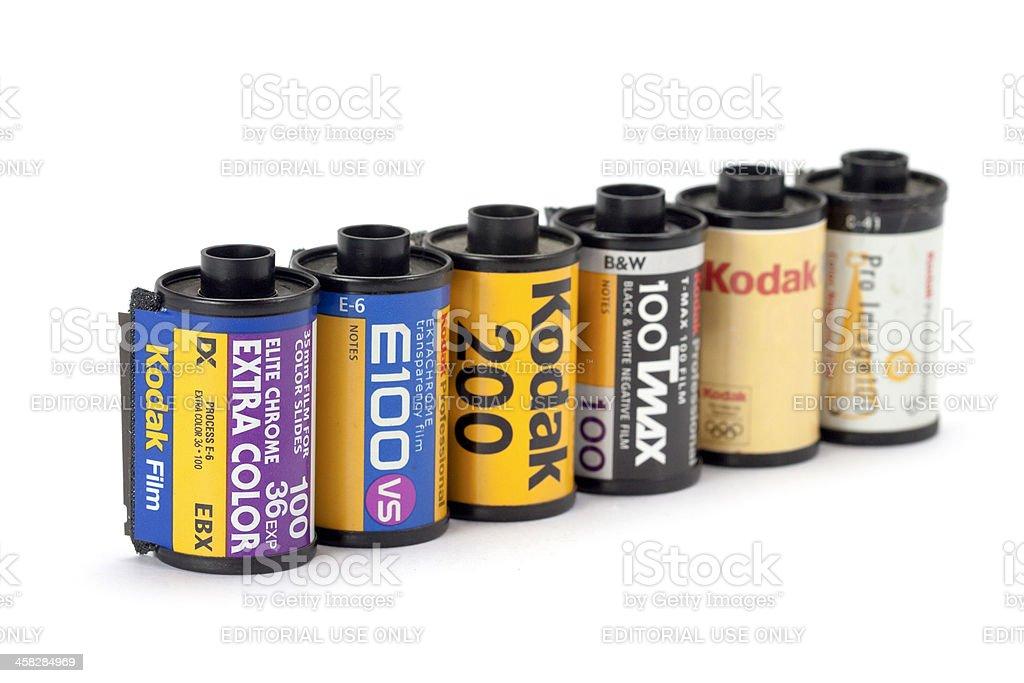 Type of Kodak film rolls stock photo