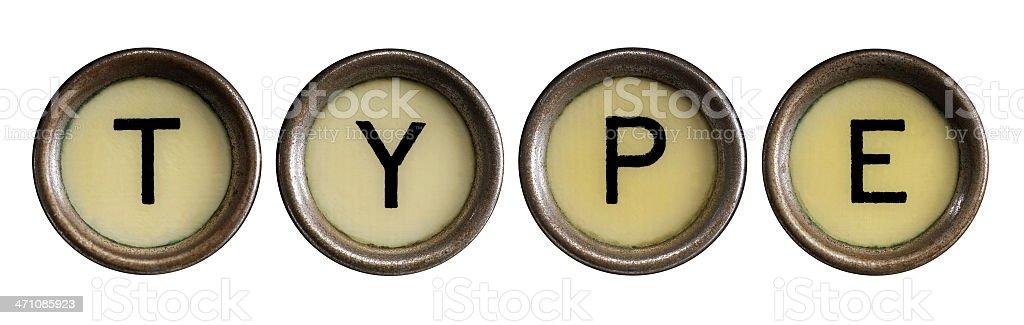 Type royalty-free stock photo