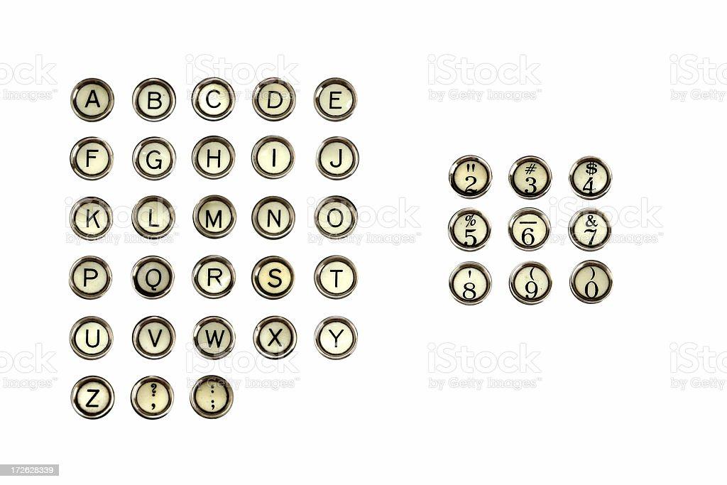 Type Writer Keys royalty-free stock photo