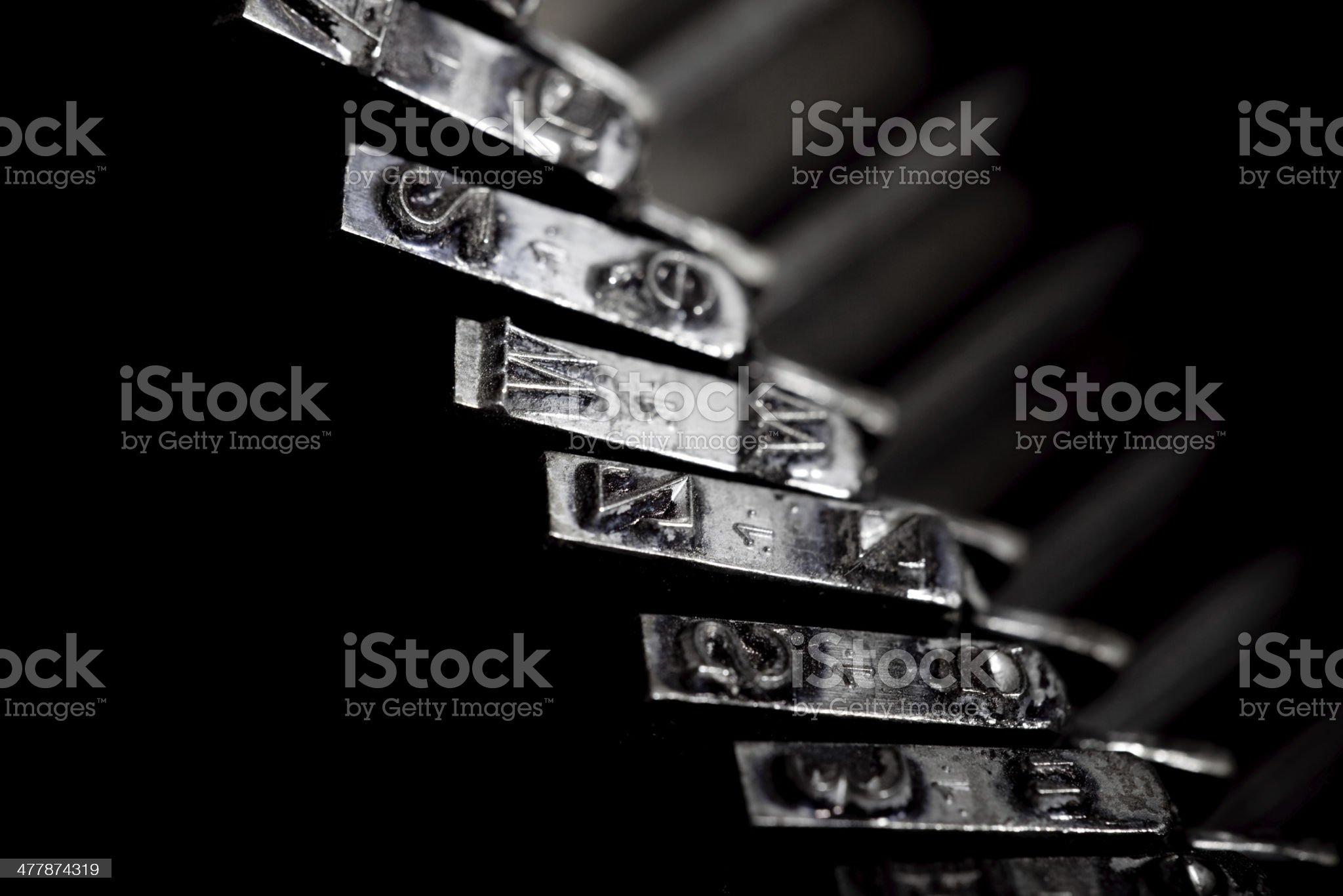 Typebar royalty-free stock photo