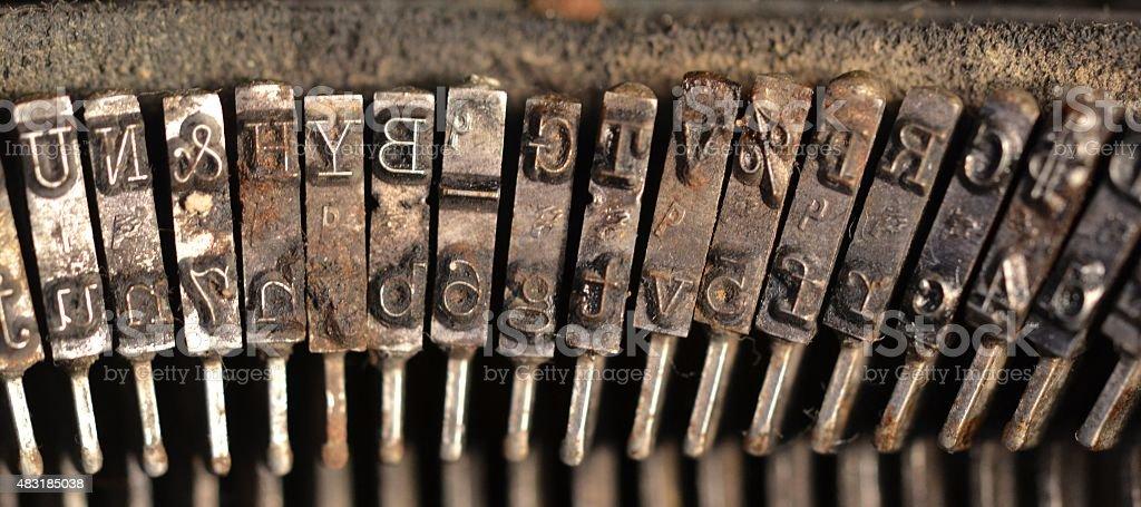 Typebars stock photo