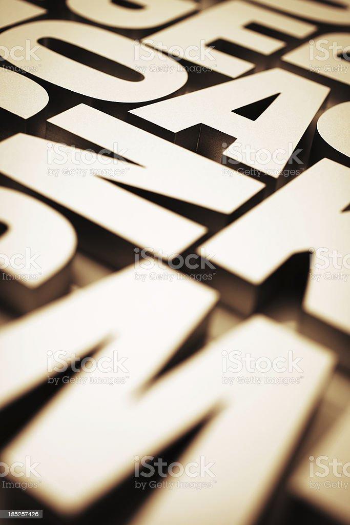 Typeface royalty-free stock photo