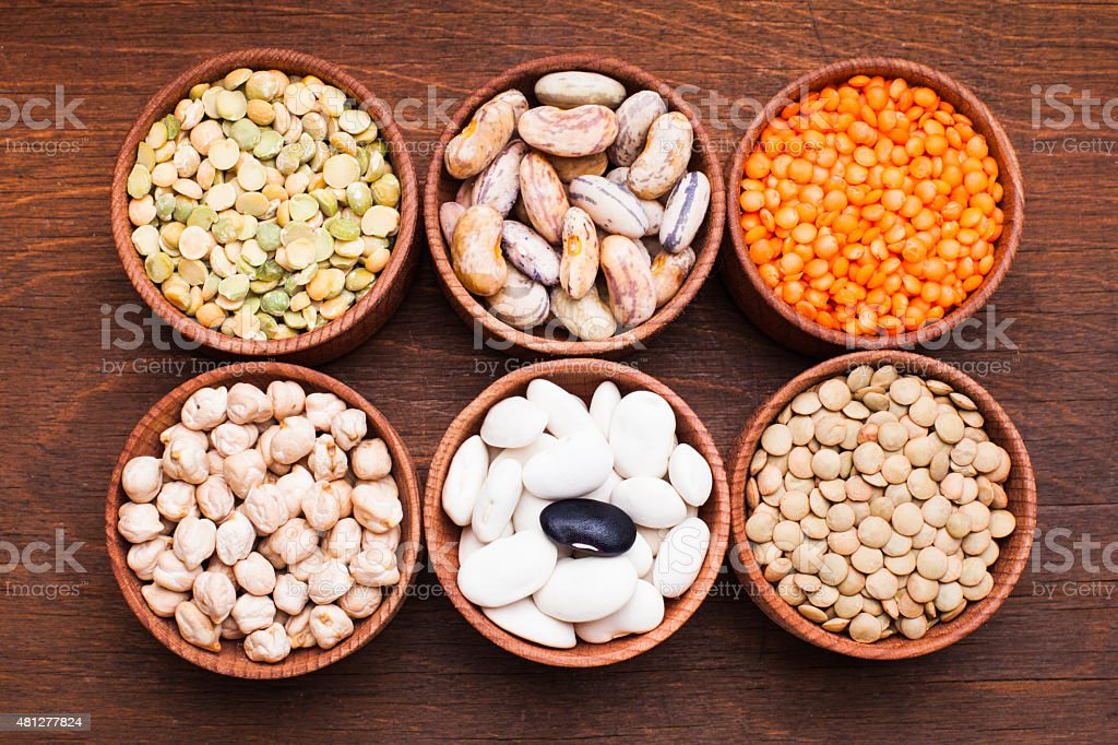 Types of beans stock photo