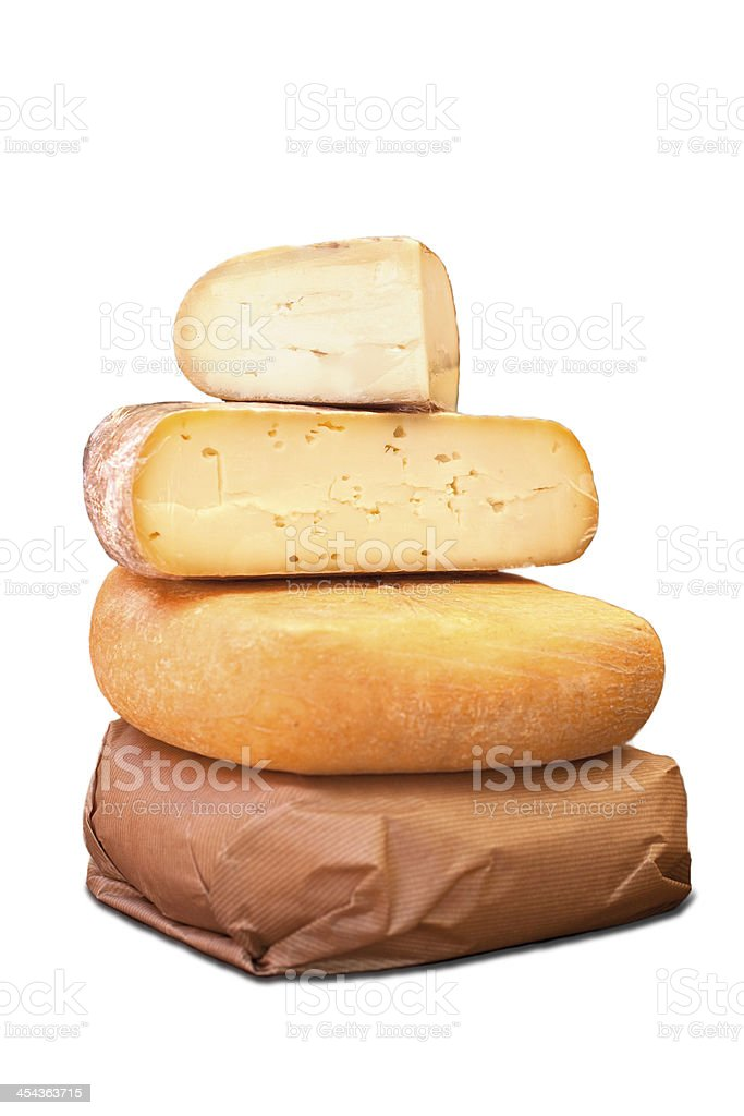 Types of cheese royalty-free stock photo