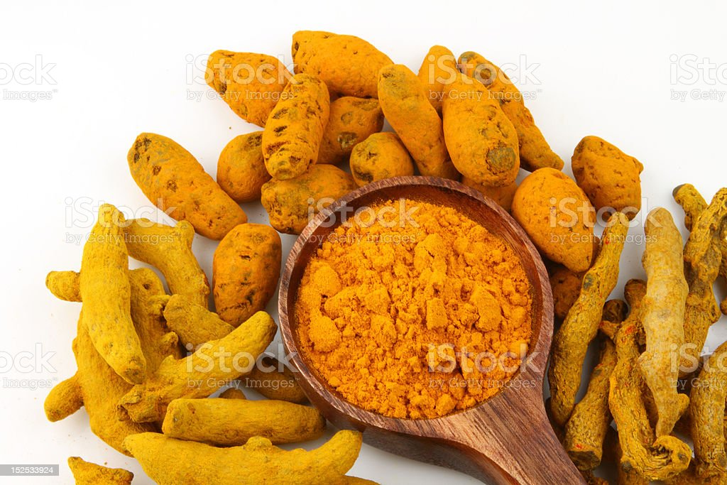 types of turmeric barks royalty-free stock photo