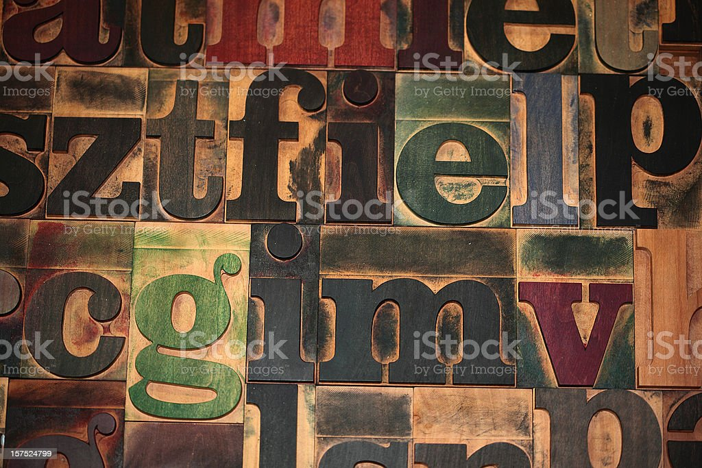 Typeset background stock photo