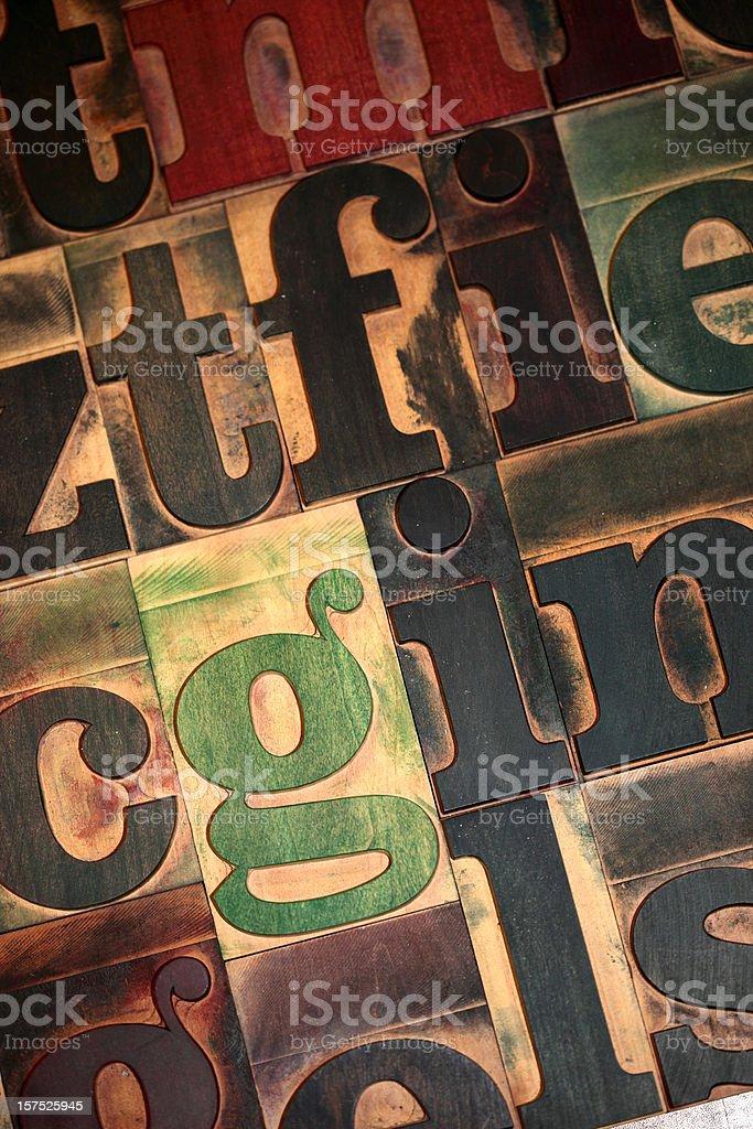 Typeset background royalty-free stock photo