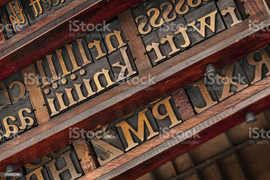 typesetter drawers royalty-free stock photo