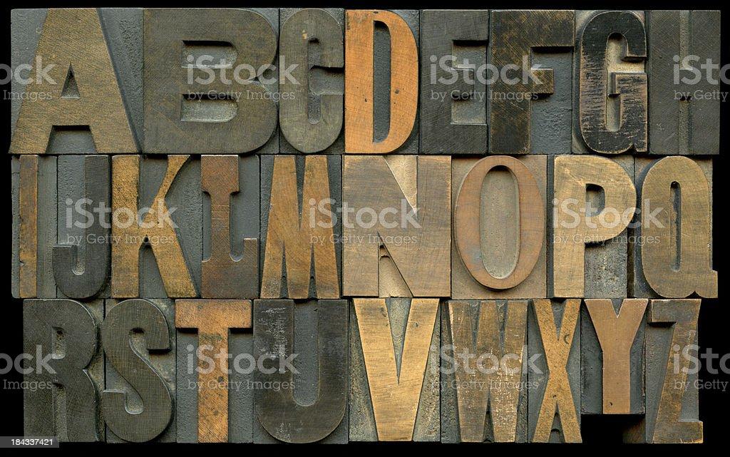 Typesetting Blocks stock photo