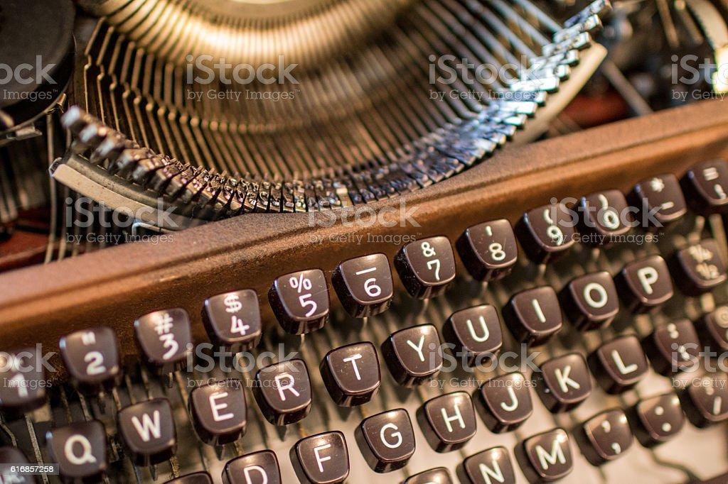 Typewriter 2 stock photo