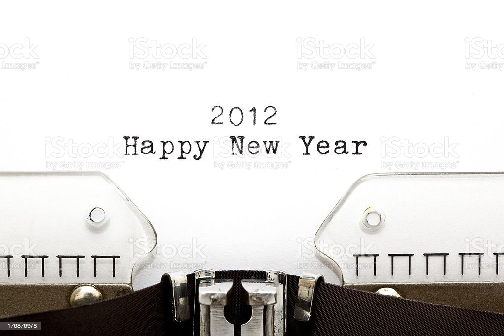 Typewriter 2012 HAPPY NEW YEAR royalty-free stock photo