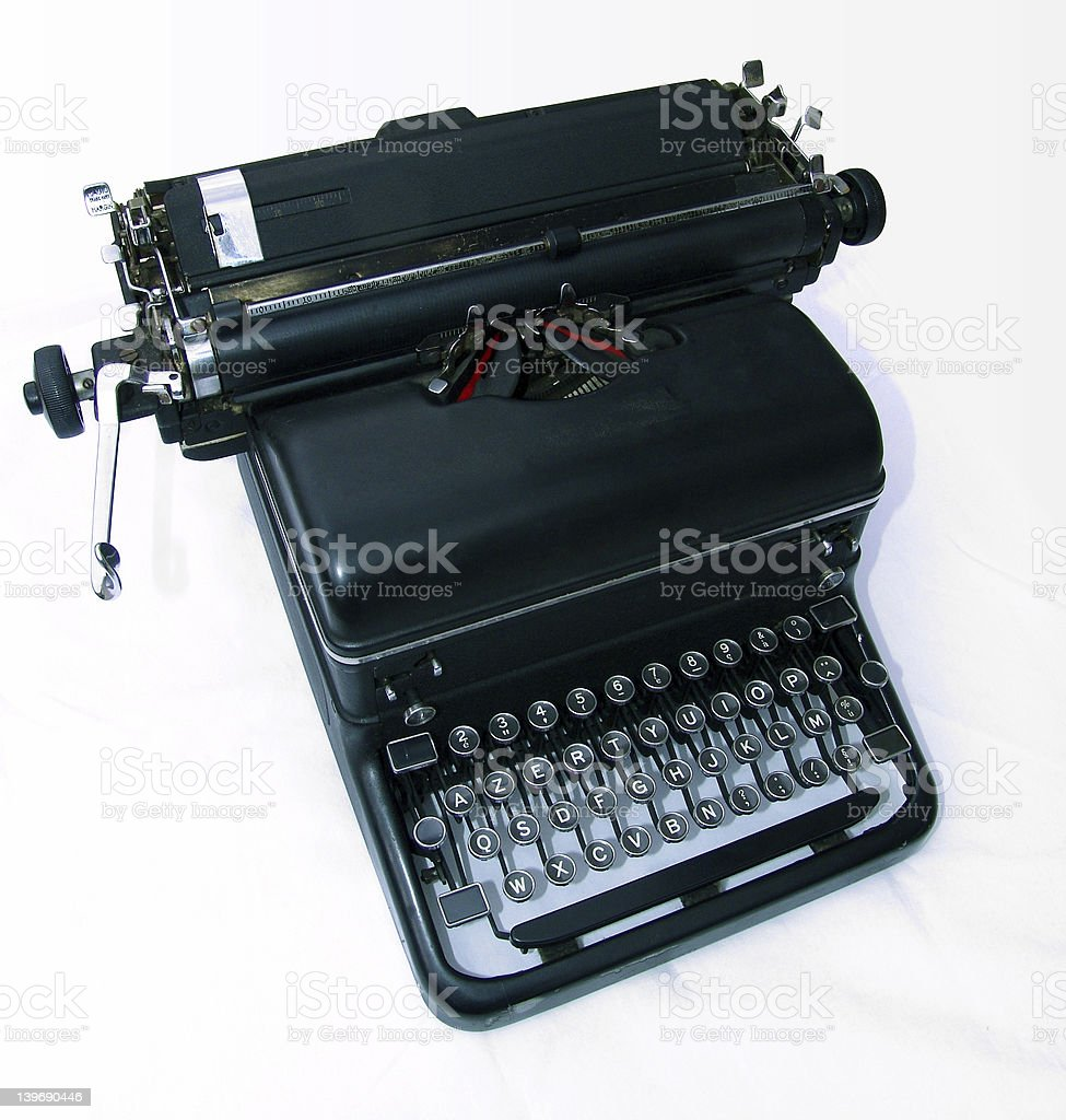 TypeWriter 3/4 royalty-free stock photo