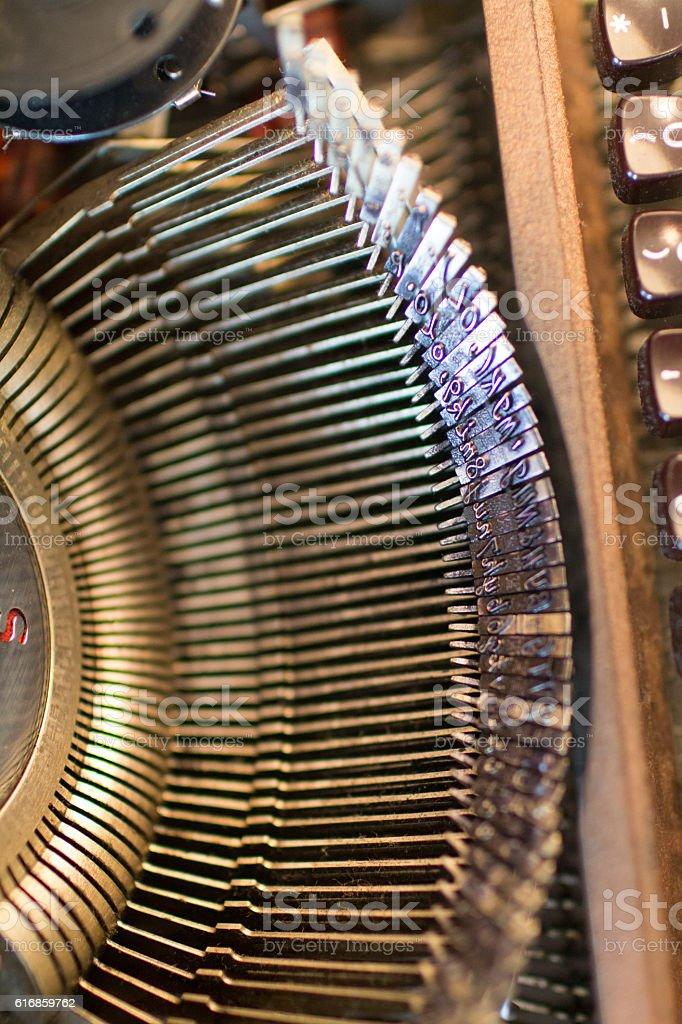 Typewriter 4 stock photo